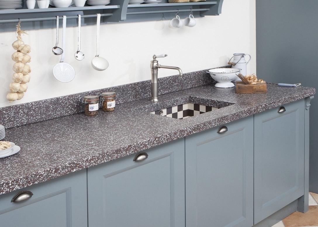 Terrazzo aanrechtblad keukenblad terrazzo granito keukenbladen - Werkblad graniet prijzen keuken ...